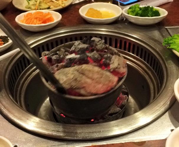 Charcoal Fire, Korean Grill, Korean BBQ, Meat, Korean Cuisine
