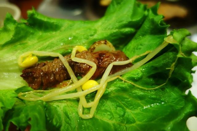 Korean BBQ, short ribs, lettuce leaves, korean cuisine