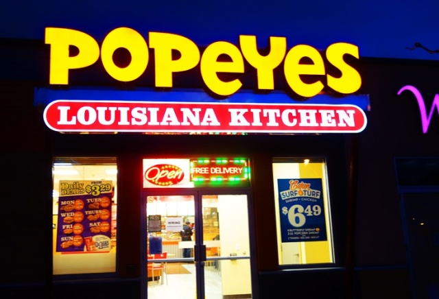Popeyes, Chicken, Chicken Fingers, York Mills, Dinner