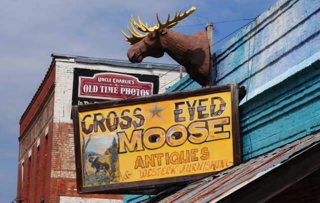 Cross Eyed Moose, Antiques, Stock yards, Fort Worth