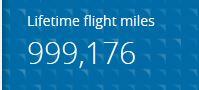 999,176 miles, United Airlines, Million Miler