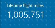 1,005,751 miles, Million Miles, United Airlines, Million Miler
