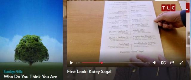 katey Sagal, Who Do You Think You Are, Genealogy, Amish