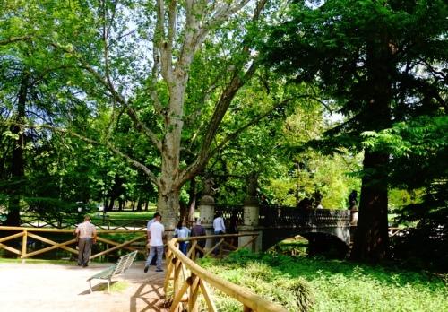 Bridge, Sempione Park, Milan, Then and Now