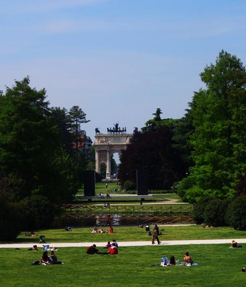 Porta Sempione, Parco Sempione, Milan, Italy, City Park
