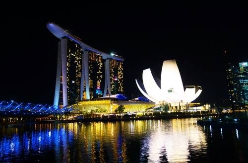Sands Hotel and Casino, ArtScience Museum, Singapore, Marina Bay