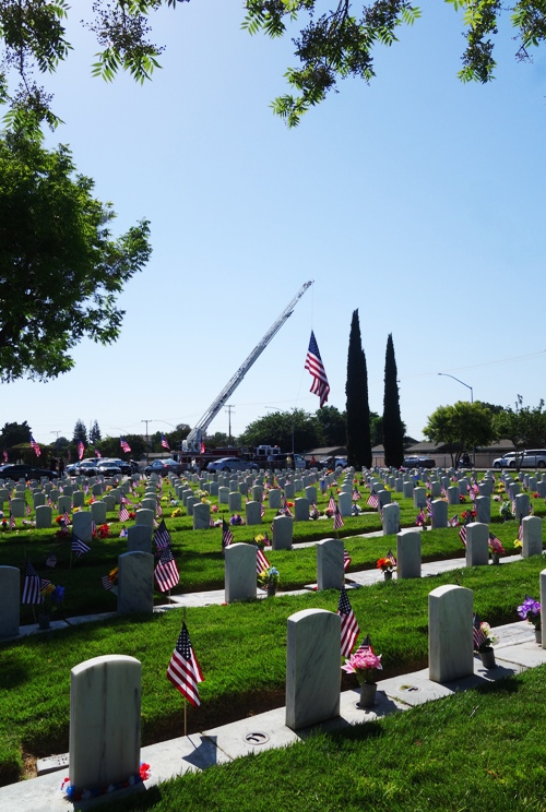 Tracy Cemetery, Large Flag, US Flag, Little Arlington, Memorial Day