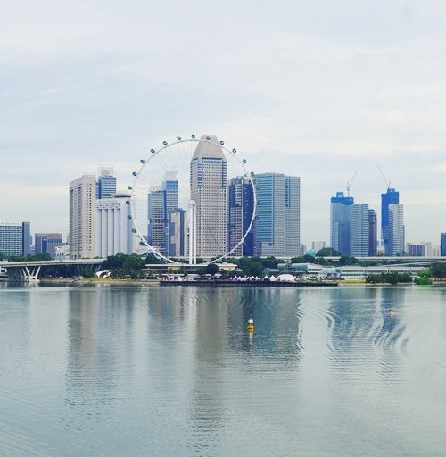 Singapore Flyer, Singapore River, Reflections, Ripples