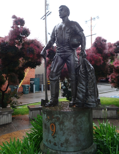 The Firefighter, Tracy, California, Sculpture
