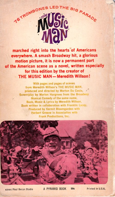 The Music Man, Novel, Meredith Wilson, Broadway, Musical