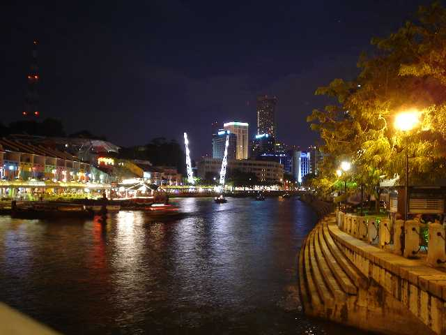 Singapore, River, Night Picture
