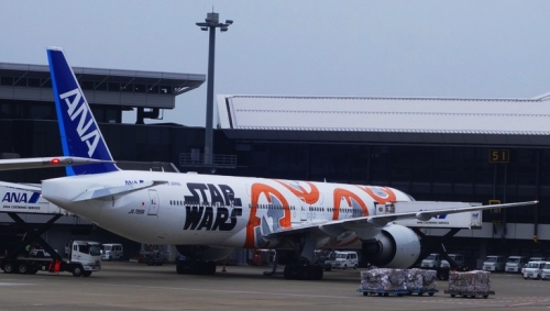 Star Wars, Airplane Art, Narita Airport, ANA Airlines, Special Planes