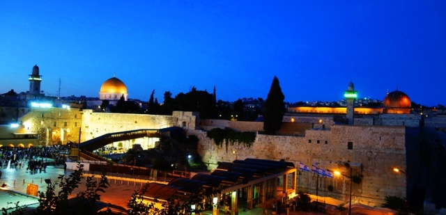 Temple Mount, Western Wall, Beginning of Sabbath