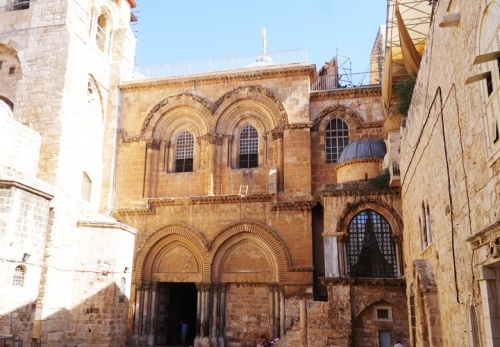 Sepulcher, Jerusalem, Courtyard, Ladder