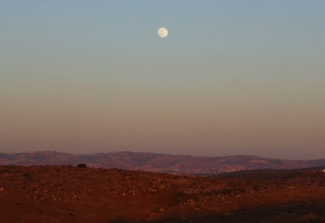 Shephelah, lachish, Judean hills, sundown, archaeological dig