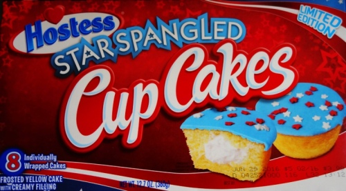 Star Spangled Cup Cakes, Hostess, Snack Cake, 4th of July