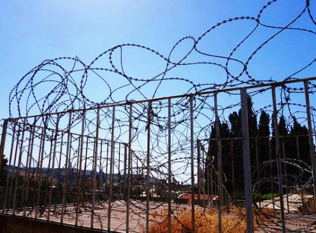 Barb Wire, Security Fence, Ramparts Walk, Jerusalem