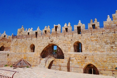 Damascus Gate, Rear View, Jerusalem Ramparts Walk