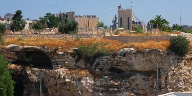 Place of the Skull, Gordon's Calvary, Jerusalem Ramparts Walk, Skull