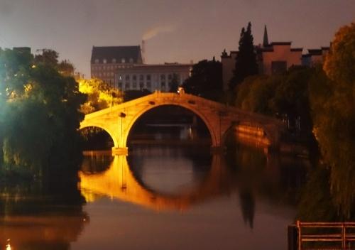 Gaoqiao, Song Dynasty, Shanghai, Bridge, Stone Bridge, Reflections