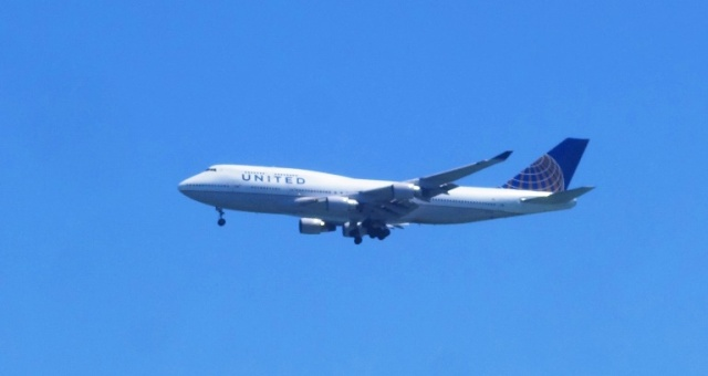 United Airlines, 747, Landing 747, SFO, San Francisco