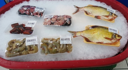 Chinese Grocery, packaged seafood, whole fish