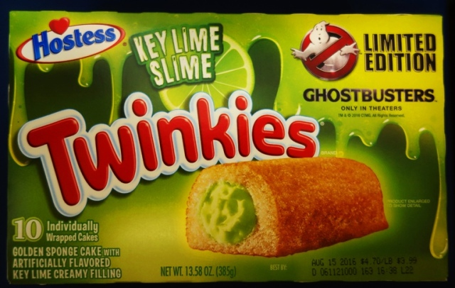 Key Lime Slime Twinkies, Ghostbusters, Hostess, Flavored Twinkies