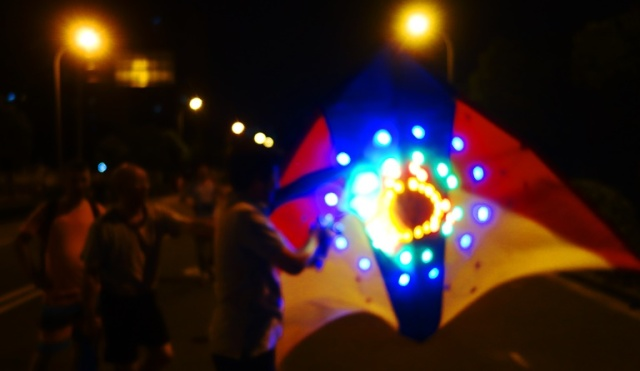 LED Kite, Night Kites, Shanghai, Pudong, Kite Flying