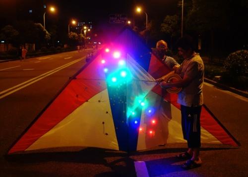 LED Kite, Night Kite, Shanghai, Kite Flying, Pudong, China