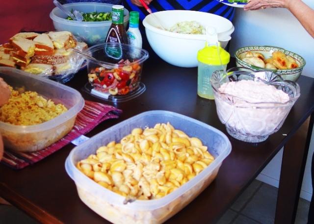 Salads, pasta, potluck, Sunday Potluck, Favorite foods