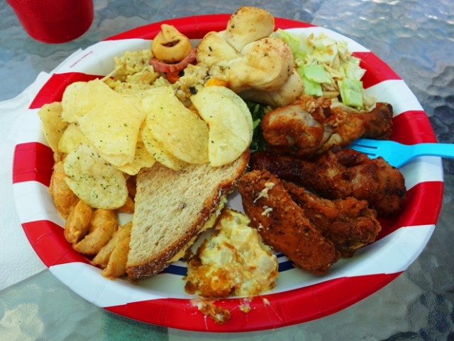 Plate of Food, Potluck, Favorite Foods, Sunday Potluck