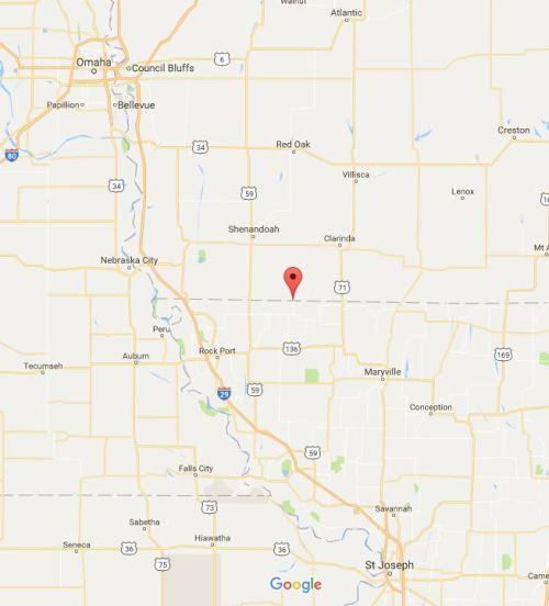 Blanchard, Iowa, Iowa Missouri Border