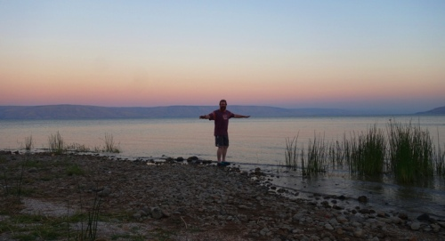 Wading in the Galilee, Sea of Galilee, Galilee Sunset