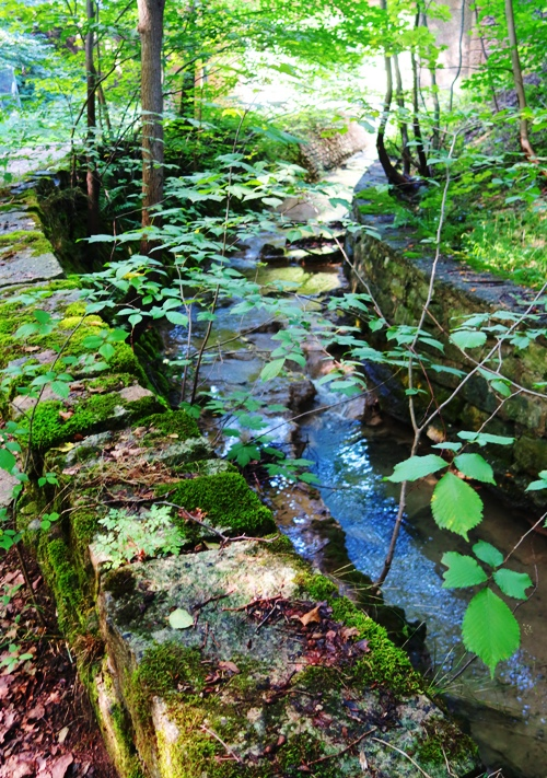 Stream, Rock Walls, Germany, Jena, Countryside