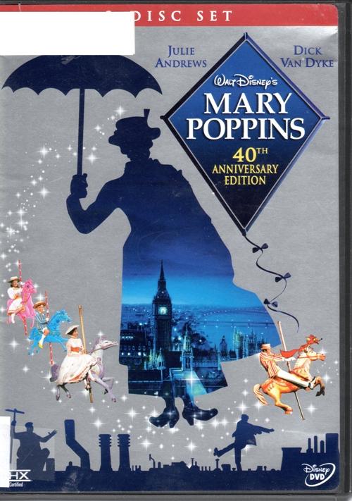 Mary Poppins Movie, Walt Disney, Julie Andrews, Dick Van Dyke