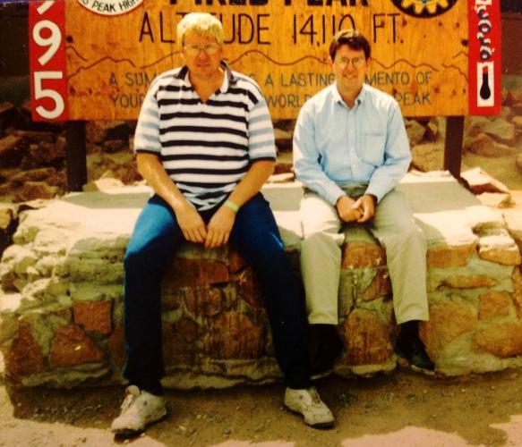Pikes Peak, Colorado, Colorado Springs, 1995, Summit Sign