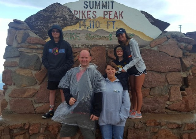 Pikes Peak, Brother, Family Picture, Colorado