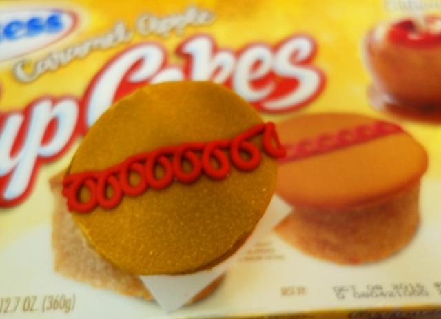 Caramel Apple CupCakes, Hostess Snack Cakes, Original Squiggle