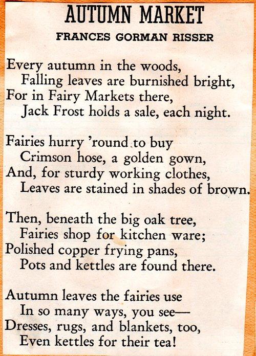 Autumn Market, Poems, Scrapbooks, Atumn Poems, Frances Gorman Risser