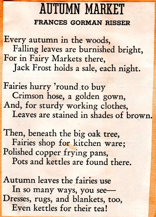 Autumn Market, Poems, Scrapbooks, Atumn Poems, Frances Gorman Risser
