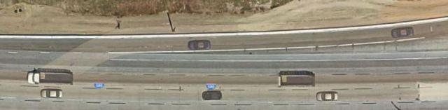 Exit Lane, White Lines, traffic, Selfish Commuters, California Traffic Jams