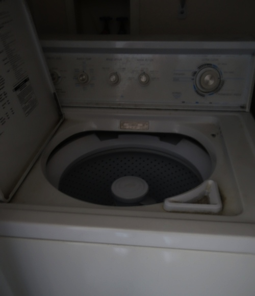 Laundry, No power, washer and dryer