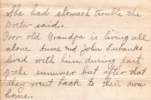 1910 Letter, Eliza Reynolds Beck, Family History, Genealogy