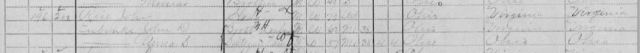 1910 Census, Lick, Jackson, Ohio, John Rice