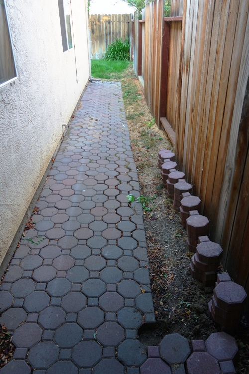Walkway to Backyard, mendocino pavers, concrete pavers