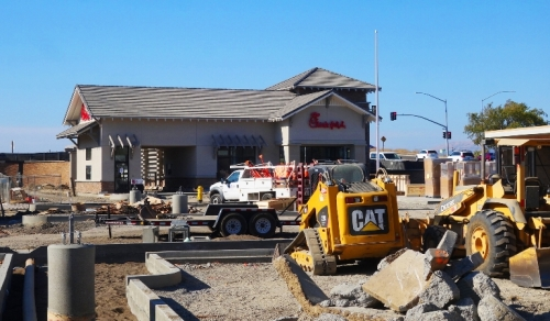 Pleasanton, Chick-fil-A, Coming Soon, Parking Lot Construction