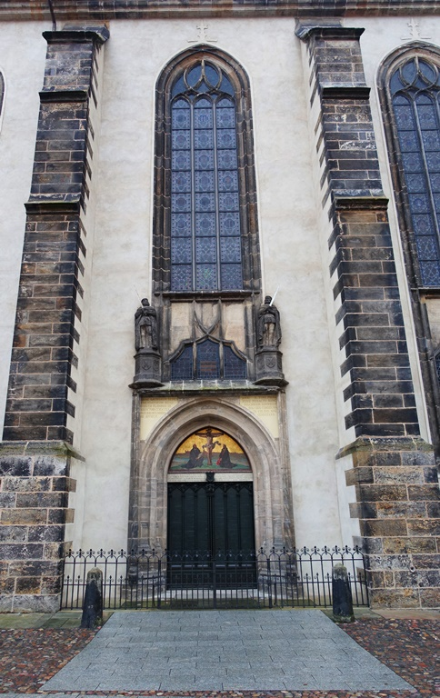 martin luther 95 thesis church A night of reformation to replace halloween october was one of the turning- points in the history of the world on that day martin luther nailed his 95 theses  to.