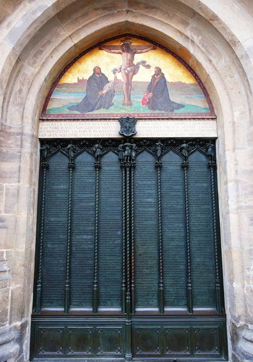 Castle Church Wittenberg, Martin Luther, 95 theses, church doors, Mighty Fortress