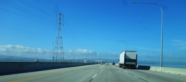 San Mateo Bridge, Airport travel, traffic, San Francisco Bay
