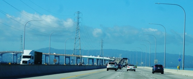 San Mateo Bridge, San Francisco Bay, To the Airport